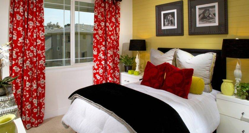 Red Black Yellow Bedroom Decor Modern Teen Echelon