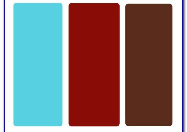 Red Blue Brown Color Scheme Painting Home Design