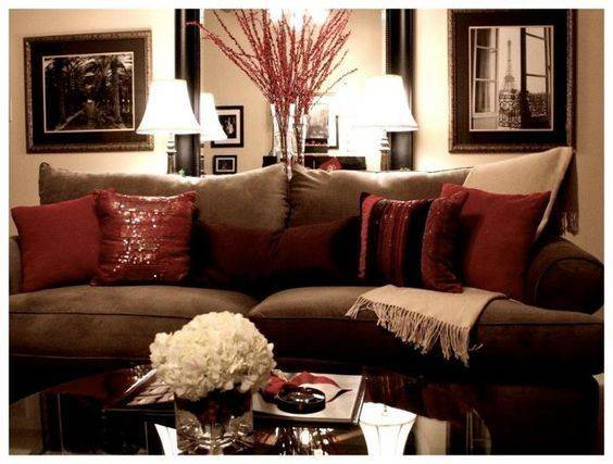 Red Brown Living Room Ideas Best