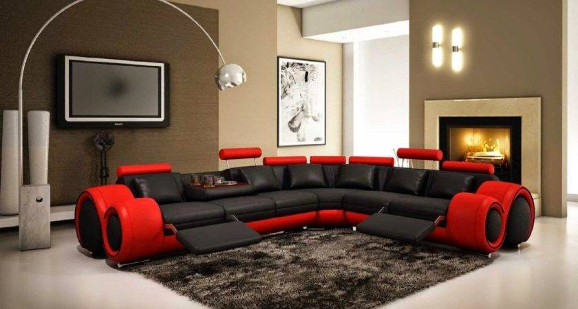 Red Couches Black