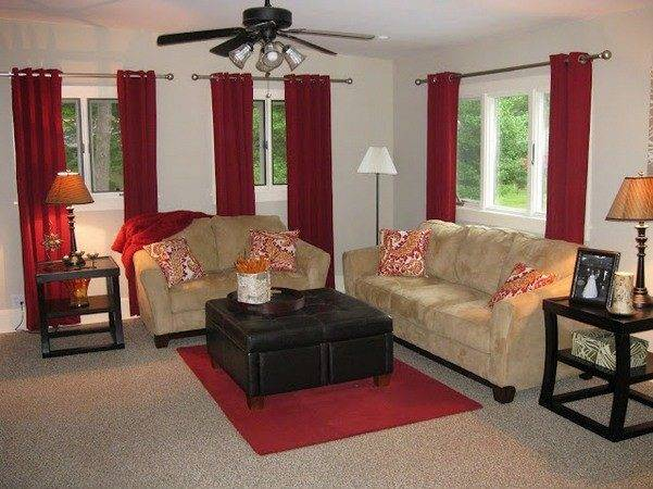 Red Curtain Ideas Curtains Living Room Grommet