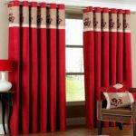 Red Curtain Ideas Living Room Embroidery Home
