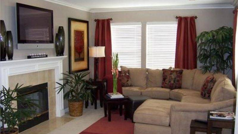 Red Curtains Living Room Design Bookmark