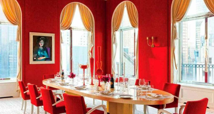 Red Dining Room Can Provide Energy More Interactive