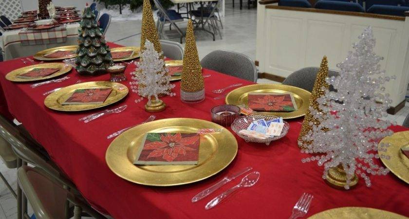 Red Gold Christmas Table Decorations Home Renovation