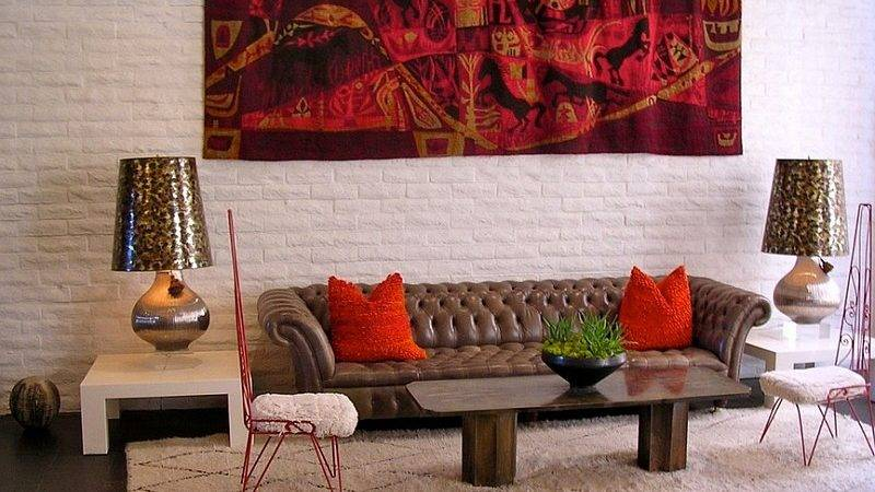 Red Gold Living Room Decor Home Vibrant