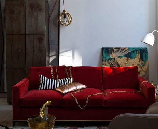 Red Gold Living Room Designs Ideal Home