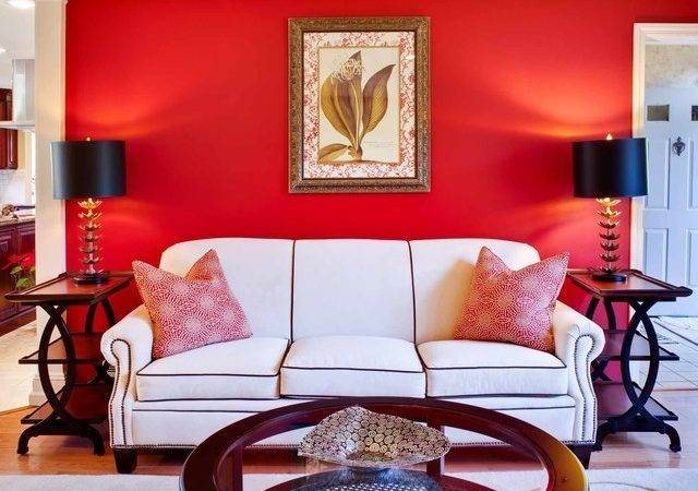 Red Gold Living Room
