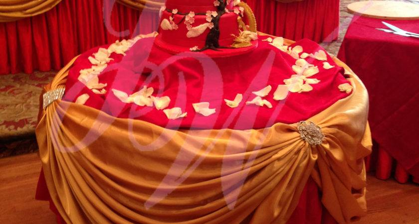 Red Gold Wedding Decoration Joyce Services