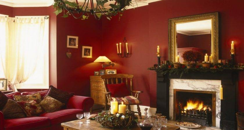 Red Gold Wedding Living Room Color Ideas