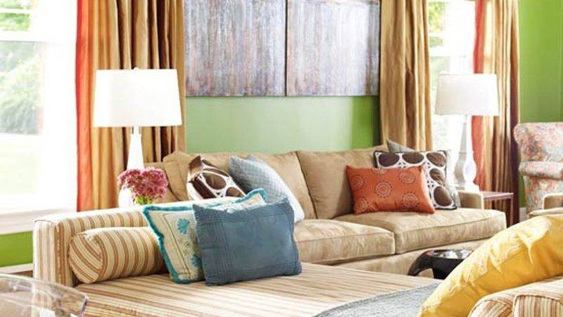 Red Green Living Room Awesome Colorful