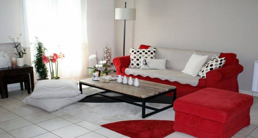Red Grey Living Room Walls Web Value