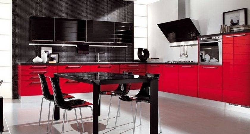 Red Kitchen Decor Modern Retro Design