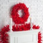 Red Large Lighted Christmas Wreath Holiday Door Wall Pre