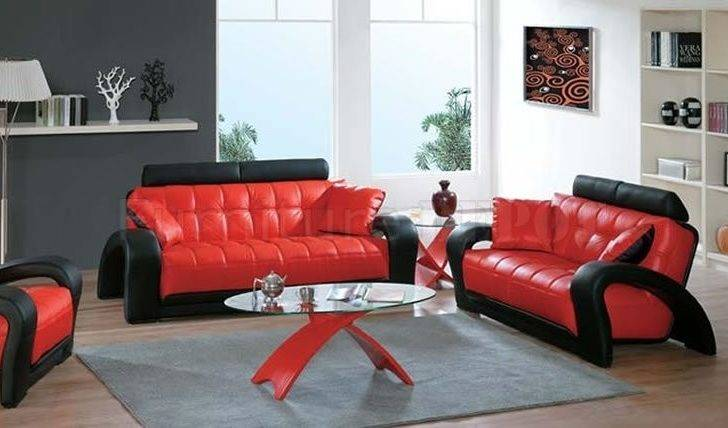 Red Leather Living Room Furniture Black Chair Ideas