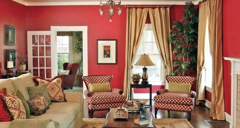 Red Living Room Decor Home Decorations