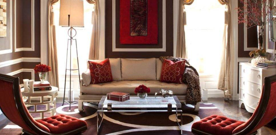 Red Living Room Designs Decorating Ideas Design