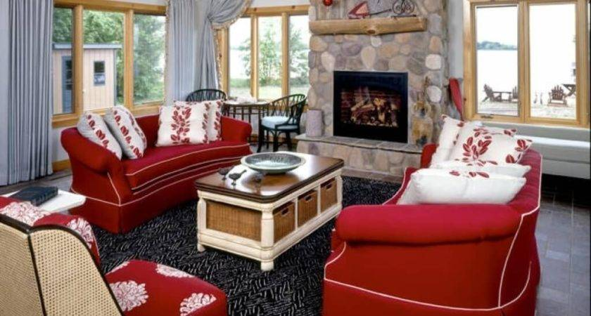 Red Living Room Sofa Decorating