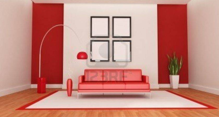 Red Modern Living Room