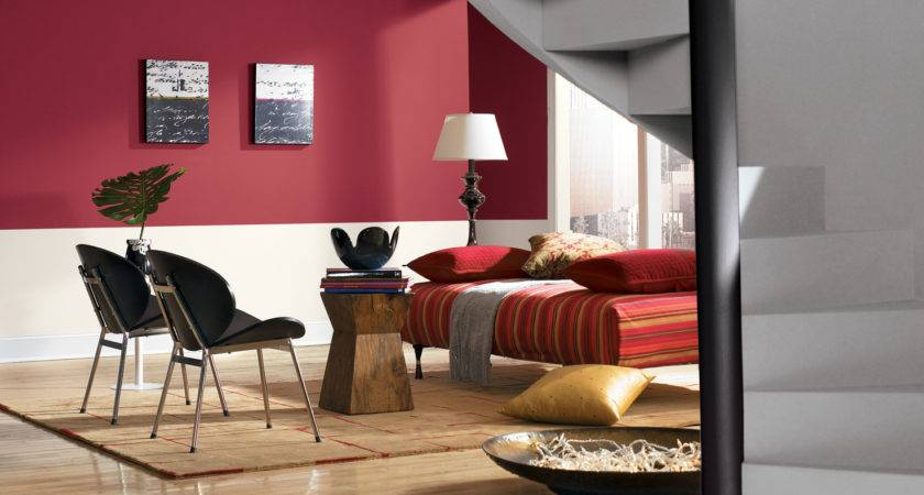 Red Paint Colors Living Room