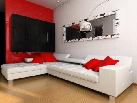 Red Room Design Ideas Living Wall Decor