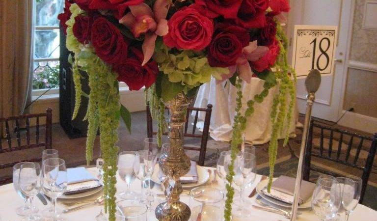 Red Rose Wedding Centerpieces Ideas Bridal