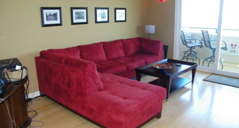 Red Sofa Decor Couch Decorating Modern Living Room