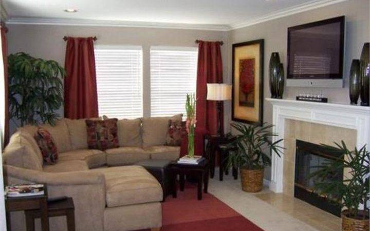 Red Tan Brown Living Room Ideas
