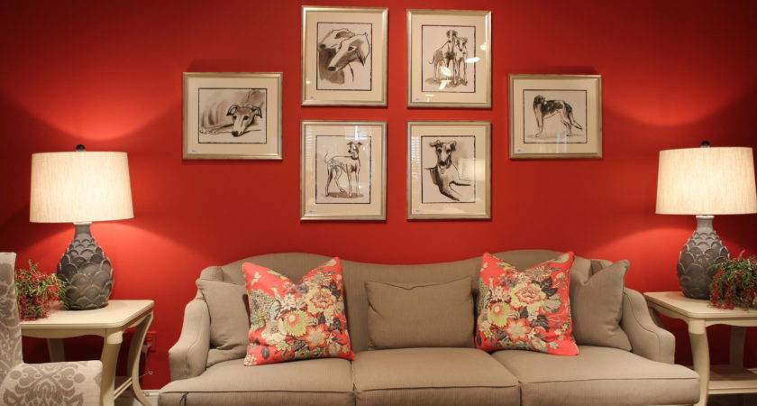 Red Taupe Triple Color Threat Living Room Paint