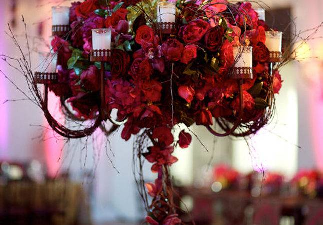 Red Wedding Centerpieces Long Hairstyles