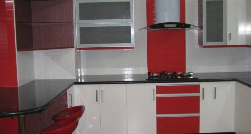 Red White Black Kitchen Designs Design Ideas
