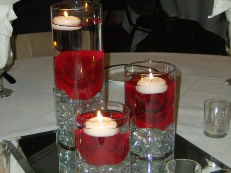 Red White Black Wedding Centerpiece Ideas