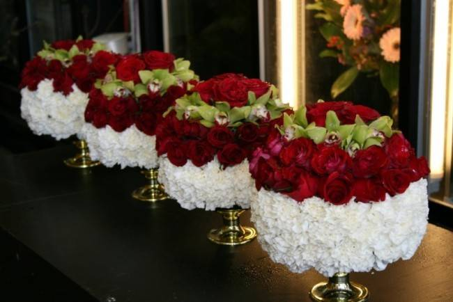 Red White Flower Centerpieces Memes