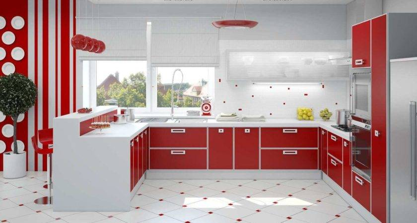 Red White Interior Design More Vibrant Home
