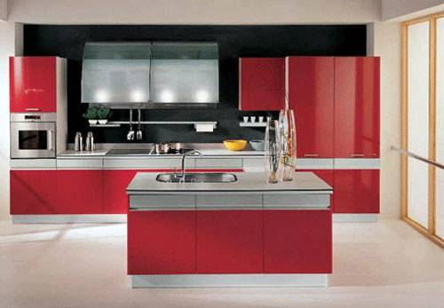 Red White Kitchen Design Ideas Home