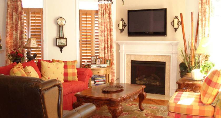Red Yellow Combined Living Room Photos Home Combo
