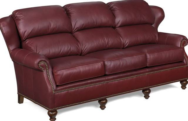 Reddish Brown Leather Sofa Sofas Living Room