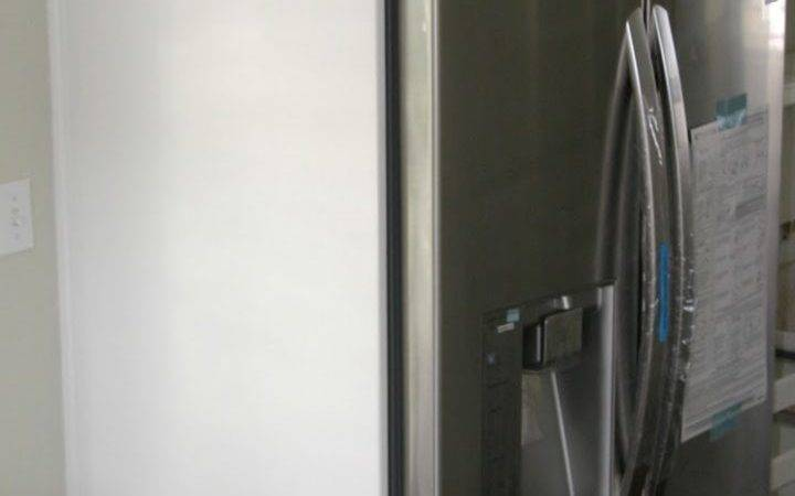 Refrigerator Space Requirements Wood Panel