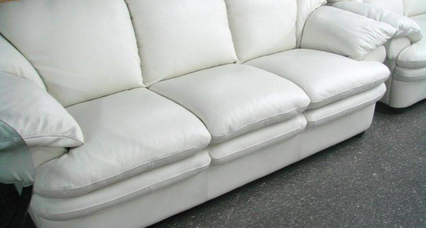 Remarkable Off White Leather Couch Home Design
