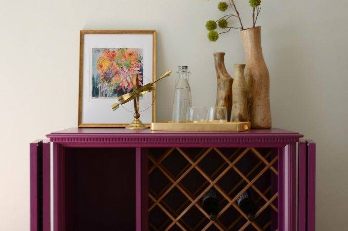 Repurposed Cabinet Becomes Wine Rack Named Ophelia