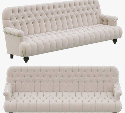 Restoration Hardware Napoleonic Tufted Upholstered