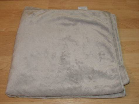 Restoration Hardware Soft Baby Blanket Grey Blue