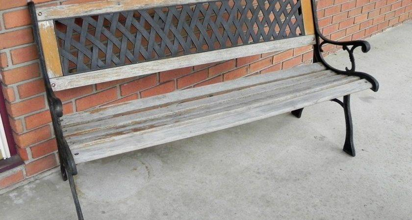 Restoring Outdoor Bench Colored Stain Mad Crafts