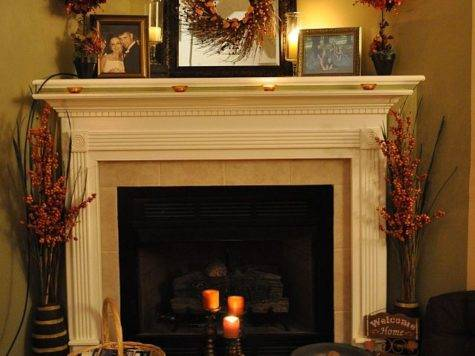Riches Rags Dori Fireplace Mantel Decorating Ideas