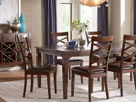 Riverdale Cherry Rectangle Dining Room