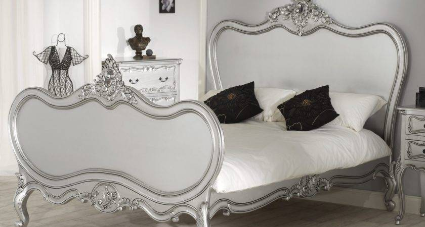 Rochelle Antique French Silver Bed Kingsize