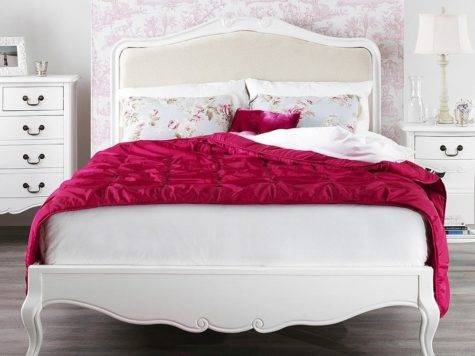 Rochelle Shabby Chic White Painted Double Bed