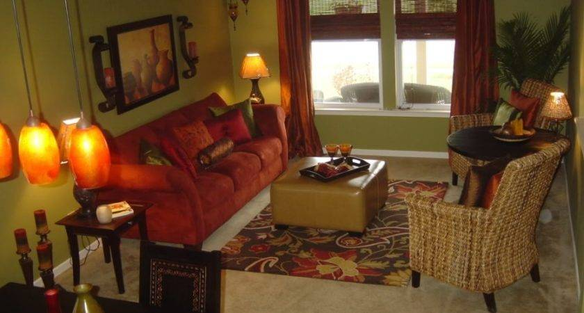 Room Decor Red Brown Living Rooms