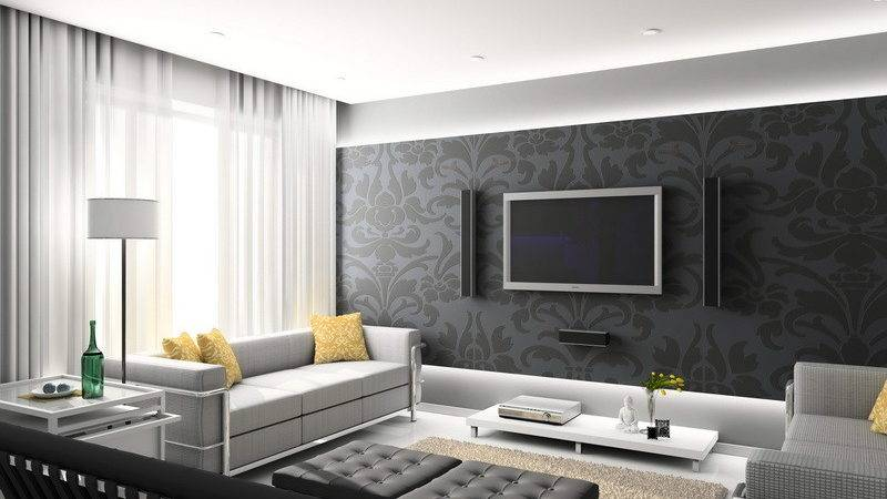 Room Design Modern Living Designs Grey