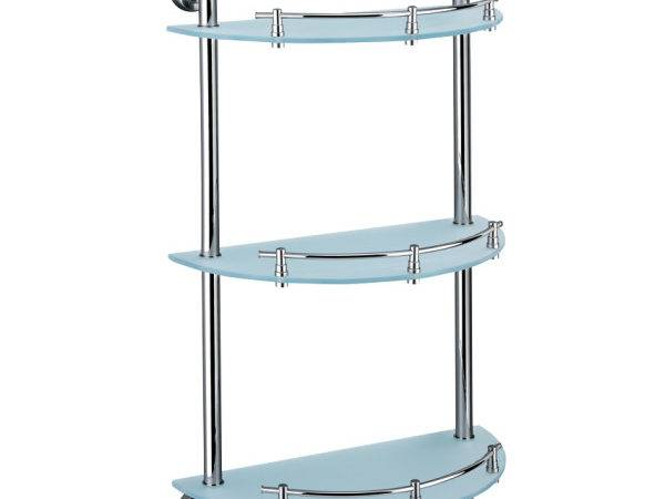 Rostock Triple Rounded Corner Glass Shelf Fantastic